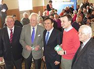 Prof. Dr. Otto Wulf zusammen mit Bundesvorstandsmitgleidern der Senioren-Union und Paul Ziemiak von der Jungen Union