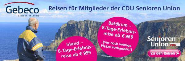 Reisen für Mitglieder der CDU Senioren-Union