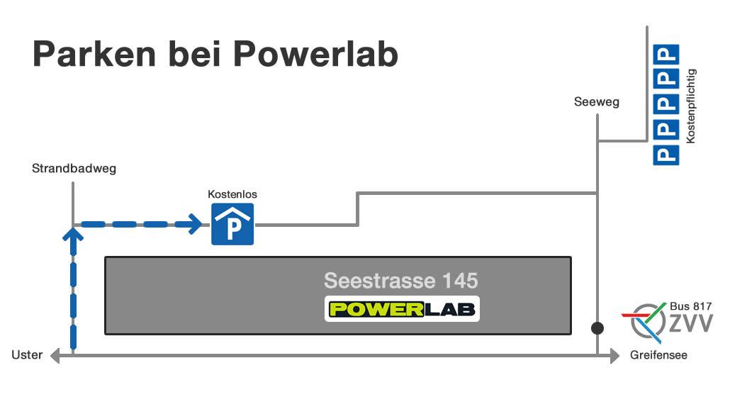 Parken bei Powerlab