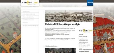 Die neue Homepage enthält viele Infos zum Jubiläum der Stadt.
