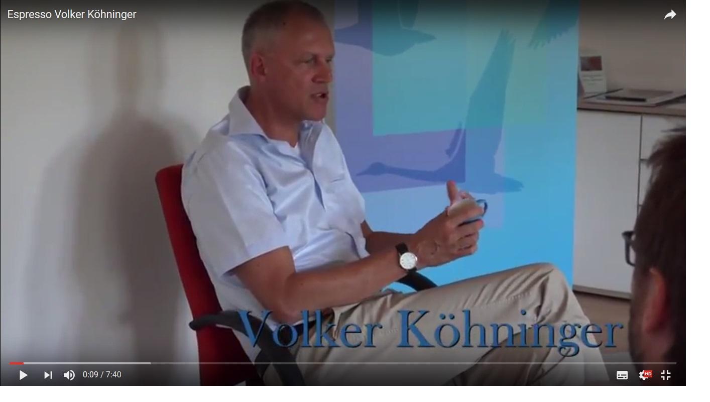 auf einen Espresso mit Volker Köhninger