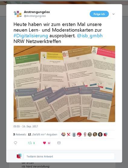 ein Tweet zum Netzwerkertreffen NRW