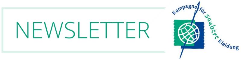 Newsletter | Kampagne für Saubere Kleidung