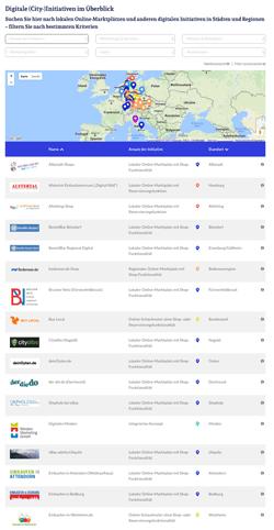 Suchmaske der Initiativen-Datenbank auf LocalCommerce.info (screenshot, AH)