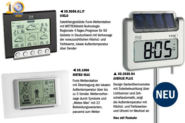 Produkte mit Außentemperatur