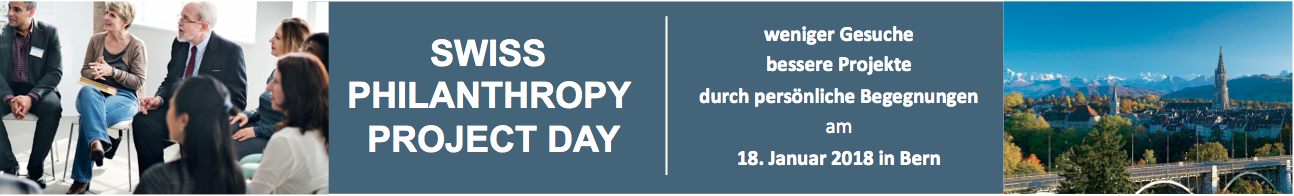 Swiss Philanthropy Project Day / Werbung