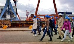 Werftbesichtigung bei German Naval Yards Kiel