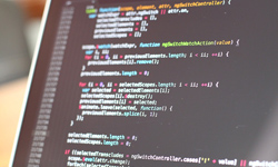 Monitor mit Code