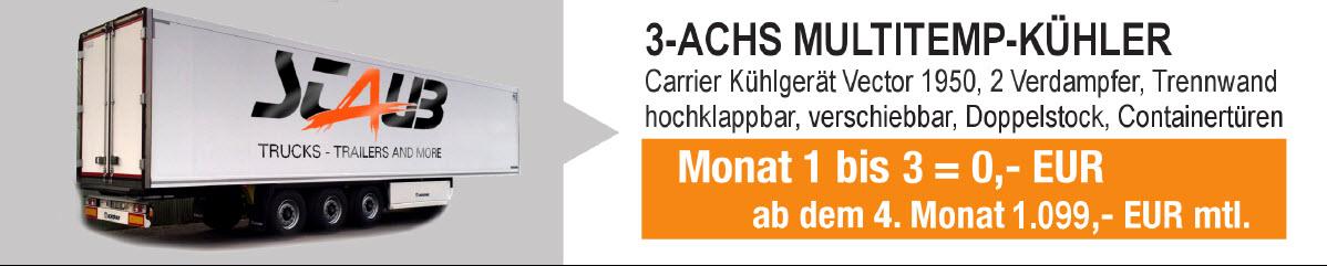 3Achs Kühlsattelauflieger mit Multitemperaturzonen