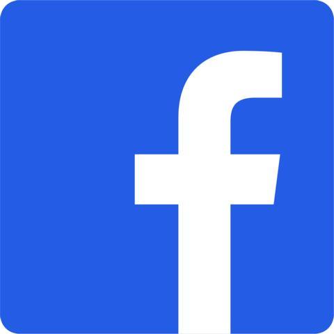 Zu sehen ist das Facebookolog. Es ist ein kleines Druckschrift-f in einem mittelblauen Quadrat, dessen Ecken abgerundet sind.