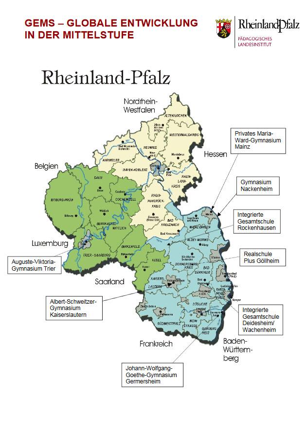 Projektpartner bei GEMs. Quelle: naturwissenschaften.bildung-rp.de