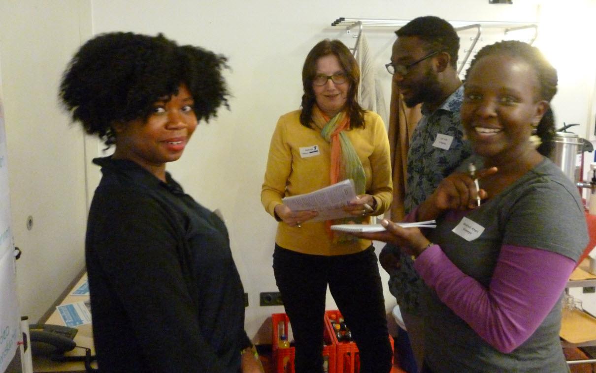 Teilnehmende am Kooperationstag in Hessen; Projekt Grenzenlos. Quelle: WUS
