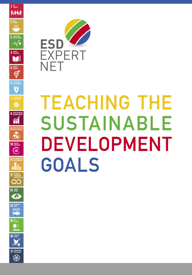 "Titelseite Broschüre ""Teaching the Sustainable Development Goals"""