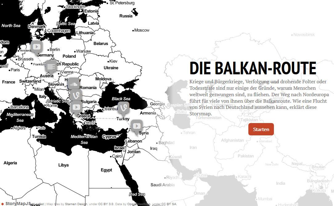 Screenshot Storymap des Adenauer Campus. Quelle: adenauercampus.de