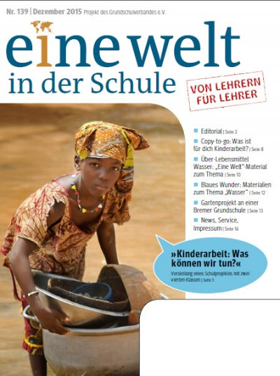 """Titelblatt Zeitschrift """"Eine Welt in der Schule"""""""