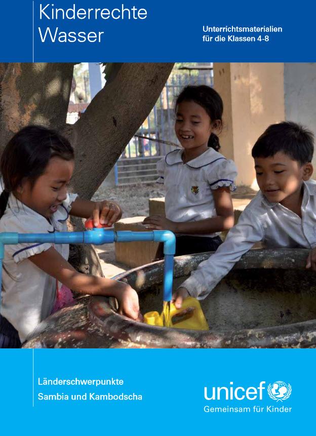 """Titelseite """"Kinderrechte Wasser"""". Quelle: UNICEF"""