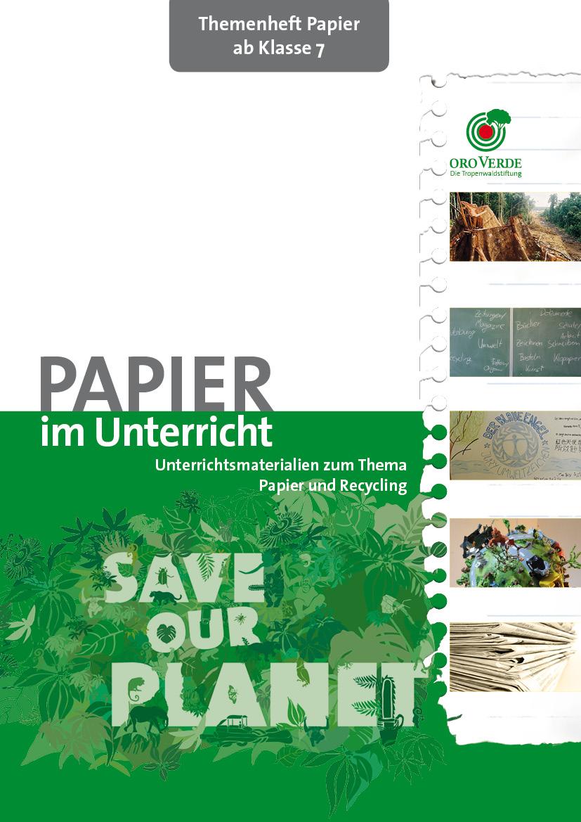 Papierheft Titelseite. Quelle: www.regenwald-schuetzen.org