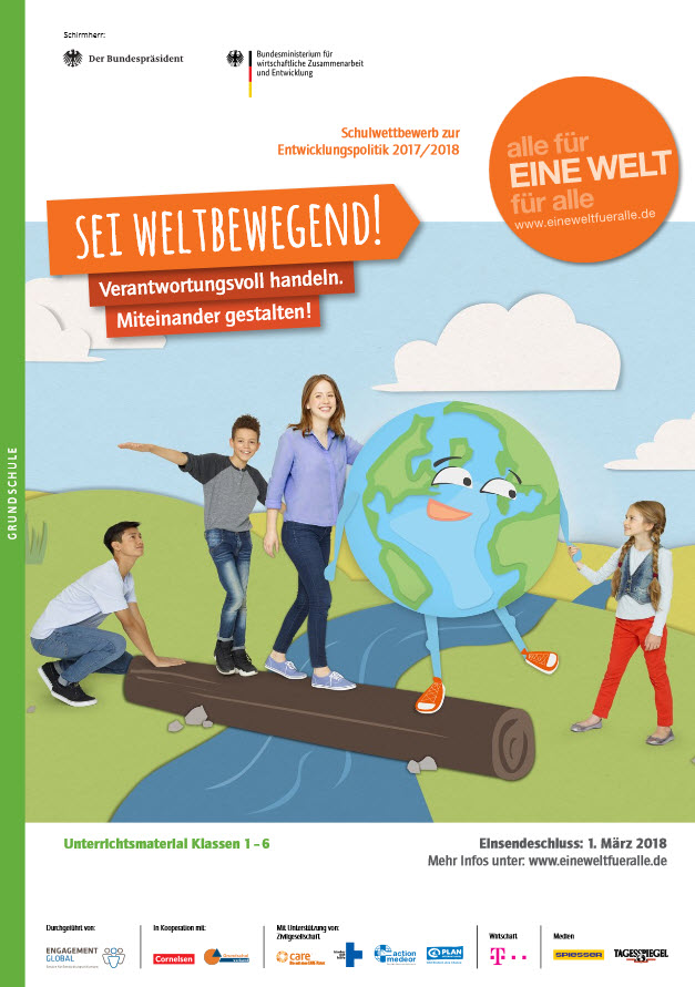 Titelseite des Materialhefts. Quelle: ENGAGEMENT GLOBAL