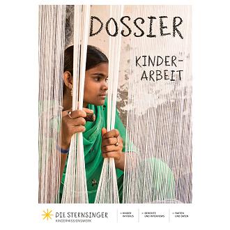 Titelseite Dossier Kinderarbeit. Quelle: Sternsinger.de