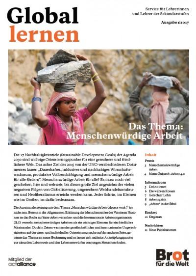 Zeitschrift Global Lernen. Quelle: Brot für die Welt
