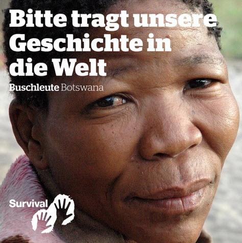 Plakatmotiv von Survival International, Quelle: Survival International