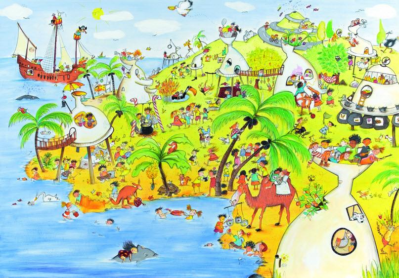 Zeichnung Wimmelinsel. Quelle: baobab.at
