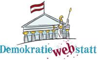 Logo Demokratiewebstatt. Quelle: www.demokratiewebstatt.at