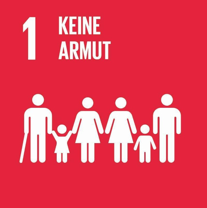 """Grafik zu UN-Nachhaltigkeitsziel Nr. 1 """"Keine Armut"""". Quelle: unric.org"""