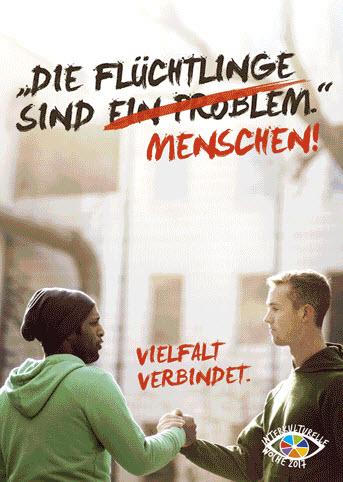 Ein Plakatmotiv zur Interkulturellen Woche 2017. Quelle: interkulturellewoche.de