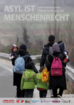 "Cover Informationsausstellung ""Asyl ist Menschenrecht"", Quelle: PRO ASYL"