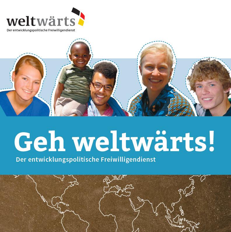 Titelseite weltwärts-Flyer. Quelle: weltwaerts.de