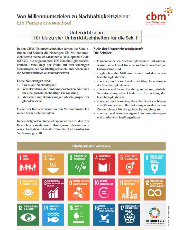 Titelseite des Materials. Quelle: cbm.de