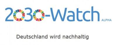 Logo SDG Watch. Quelle: https://2030-watch.de/