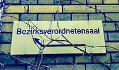Schild BVV-Saal Pankow