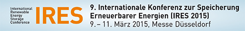 9. Internationale Konferenz zur Speicherung Erneuerbarer Energien (IRES 2015)