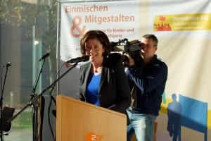 Ministerpräsidentin Maul Dreyer beim Demokratie-Tag Rheinland-Pfalz 2013 im ZDF I © Foto: Sappho Beck, beta - Die Beteiligungsagentur