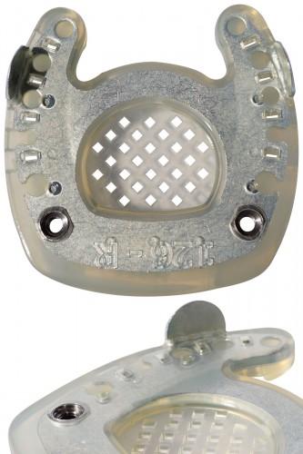 zehenoffener Duplo-Beschlag mit Seitenkappen und Gewinde