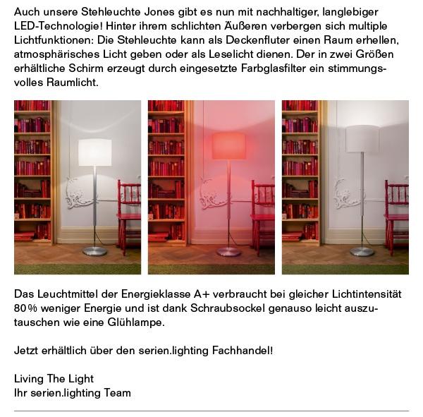 Das Leuchtmittel der Energieklasse A+ verbraucht weniger Energie.
