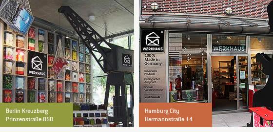 Werkhaus Läden in Berlin und Hamburg