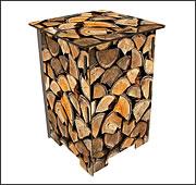 Photohocker Holzstapel