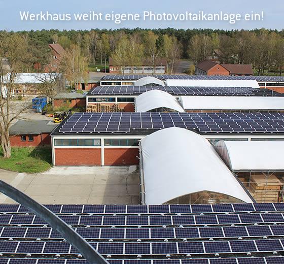 Werkhaus weiht Photovoltaik-Anlage ein