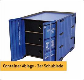 Container Ablage 3er-Schublade