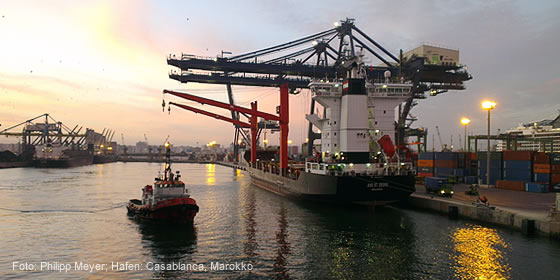 Container Hafen Casablanca