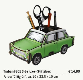 Trabant Stiftebox Cliffgrün