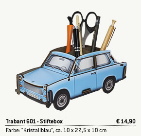 Trabant Stiftebox Kristallblau