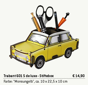 Trabant Stiftebox Monsungelb