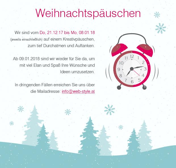 Frohe Weihnachten wünscht web-style