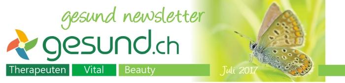 gesund newsletter Juli 2017