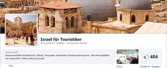 Israel für Touristiker auf Facebook