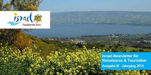 Ausgabe 3 Israel-Newsletter für Reisebüros und Touristiker